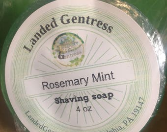 Rosemary mint Shaving Soap