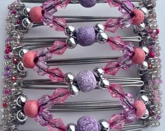 Hair Clip, Hair Comb, Barrette, Average, Hair, Pink, Purple