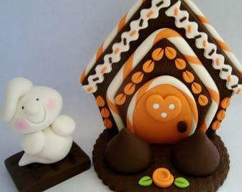 Ghost - Chocolates - Halloween Cottage - Polymer Clay - Halloween - Set of 2 - Figurines