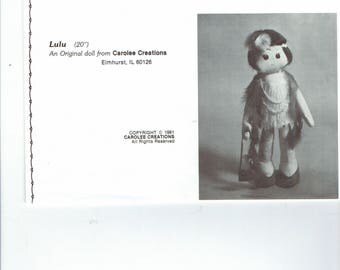 Lulu doll pattern with hair fabric