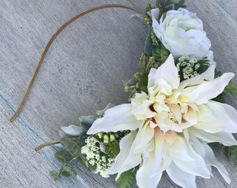 Bridal Headband, Succulent Headband, Bridal Accessories, Bridal Headpiece, Bridal Headband, Wedding Headband, Bridesmaid Headband, Floral.