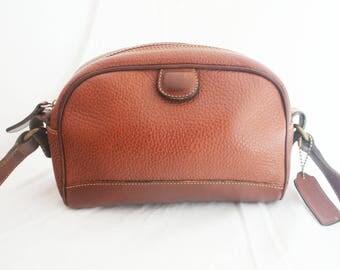 COACH- Brown Small Pebbled Leather shoulder domed shoulder strap bag