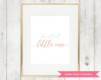 Stand Tall Little One | Pineapple Nursery Print | Pink and Mint Art Instant Download