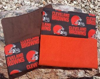 Set of 2 Cleveland Browns Burp Cloths