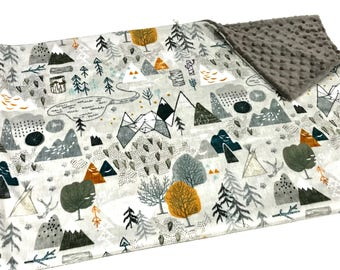 Map blanket etsy mountains baby boy blanket minky baby blanket grey maxs map baby blanket ready gumiabroncs Images