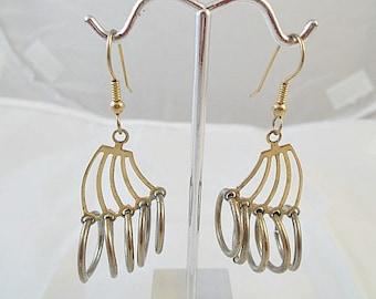 Hoops  Rings Dangle Earrings
