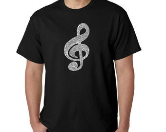 Men's T-shirt - Created using a List of the Most Popular Classical Music Composers of All Time Music Note