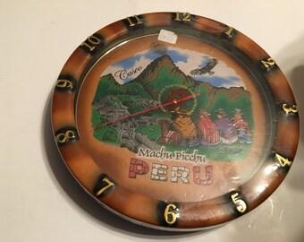 machu picchu peru decorative wall clock
