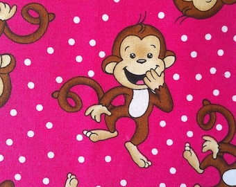 Monkey Print Cotton Fabric