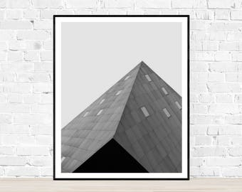 Digital download | ANGLES | architecture photography | black and white | geometric art print | Contemporary Jewish Museum San Francisco