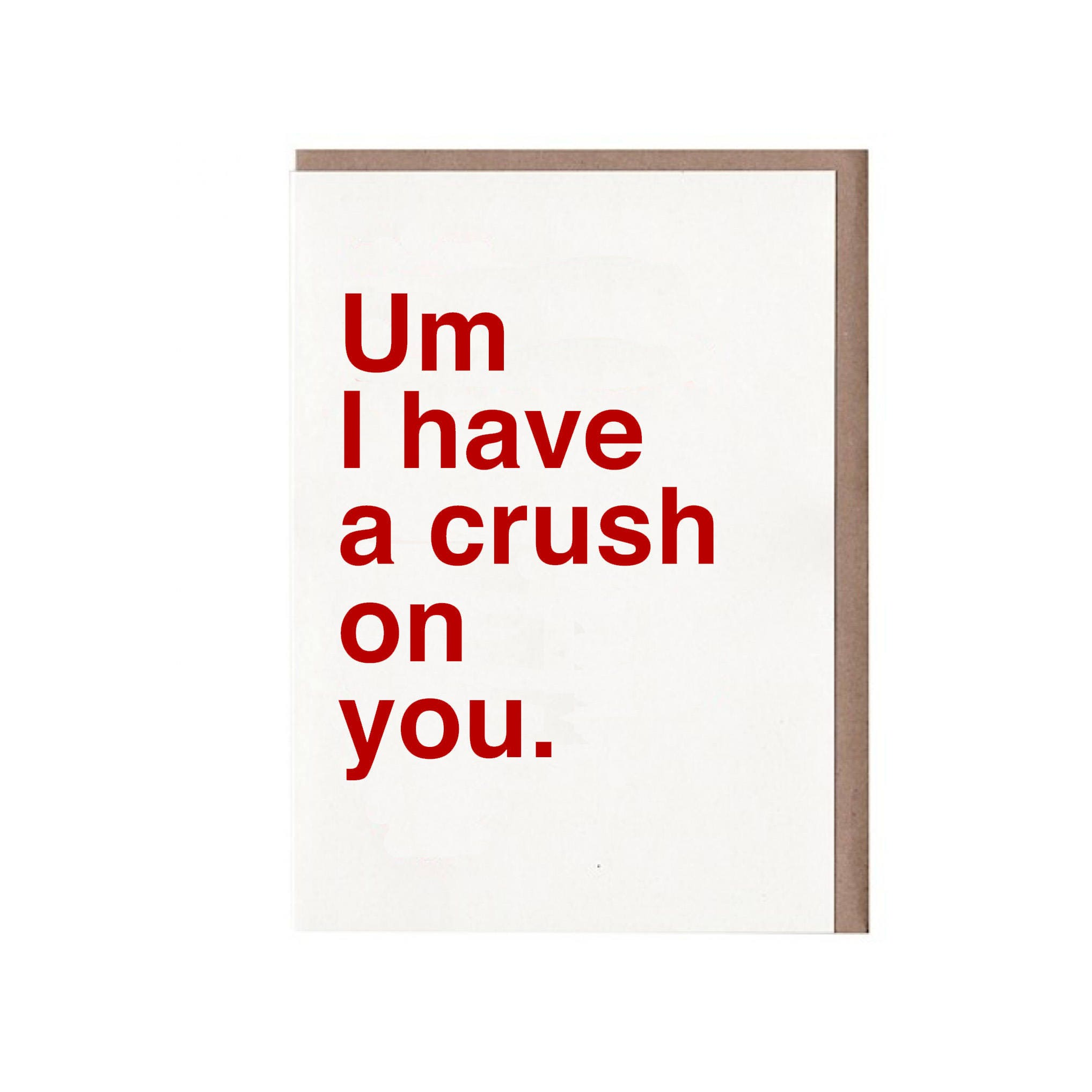 Funny Valentine Card  Crush Card  Valentine Card for Crush  Um