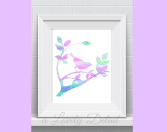 bird watercolor art wall art wall art for home gift for animal lover bird watch father watercolor art  wall art printable