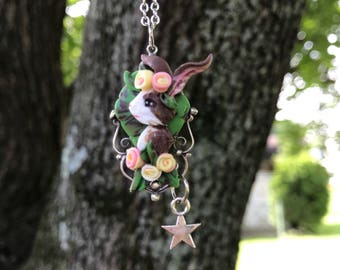 Polymer clay Bunny Rabbit necklace