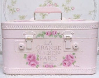 Painted  Train Case