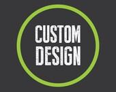 "RESERVED - custom 11""x17"" print - Typography poster print"