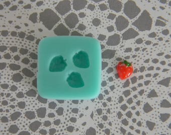 Flexible Mold - Tiny Strawberry