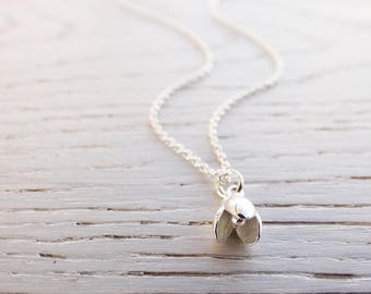 Silver Snowdrop Necklace - Sterling Silver