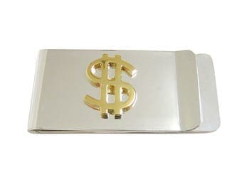 Gold Toned US Dollar Sign Money Clip