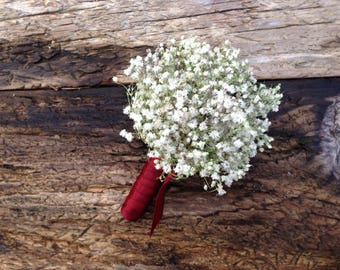 Reserved Add On Listing for Susan - Simple Dried Baby's Breath Boutonnieres - Baby's Breath