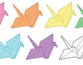 "Origami Paper Crane 2"" Sticker Set!"