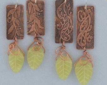 Hanging Leaf OR Hanging Turquoise Earrings