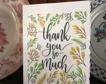Thank you so much, Thank you [blank card ]