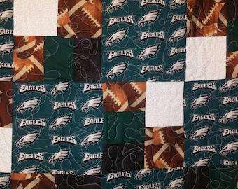 Philadelphia Eagles football quilt