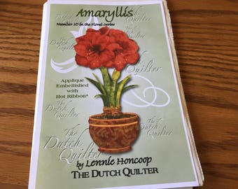 AMARYLLIS - Quilt Pattern Only