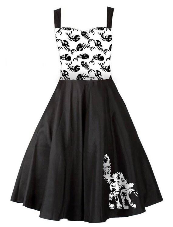 Robe pin up noire et blanche