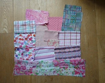 set of fabrics for patchwork 146 coupons