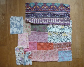 set of fabrics for patchwork 141 coupons