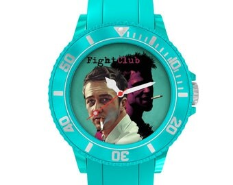 Fight Club, cult movie, stars, movies, ikea turquoise plastic watch