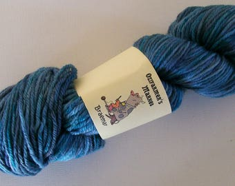 Braemar - 100gm Kettle dyed 8ply/light worsted/DK yarn. Ocean