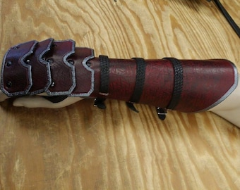 Leather Armor Reverse Clamshell Gauntlets
