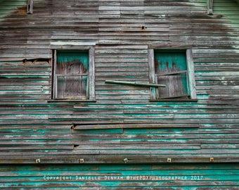 Window Photography | Old Barn | Abandoned Oregon | Barn Siding Detail | Peeling Paint | Oregon | Cottage | Shabby Chic