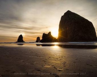 Beach Photography | Oregon Coast | Cannon Beach | Oregon Beaches | Ocean Print | Haystack Rock | Oregon Beach Print
