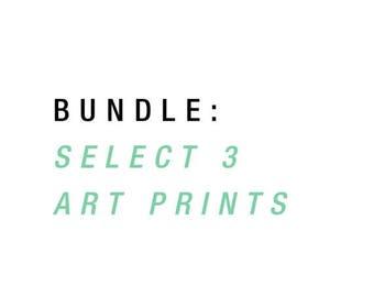SALE Art Print Bundle, Art Print Package, 3 Pack Art Prints, Wall Gallery Set, Wall Art Set, Custom Wall Art Set, Wall Art Print Set