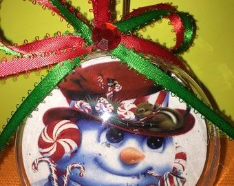 Snowman themed ornament