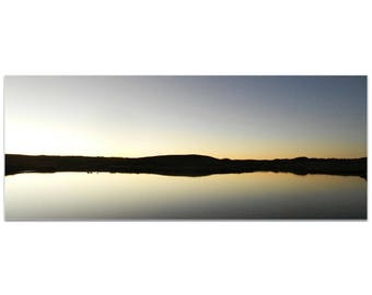 Western Wall Art 'Lakeside Sunset' by Slade Reiter - American West Decor Country Rustic Photography on Metal or Plexiglass