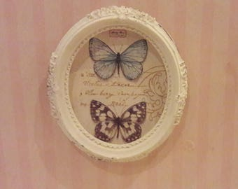 Framed butterflies picture