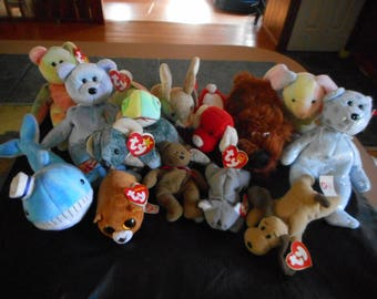 ESTATE LOT of Beanie Babies