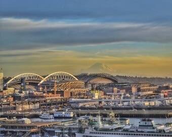 Seattle Mt. Rainier Photo Print