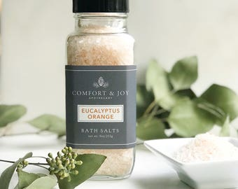 Eucalyptus Orange Bath Salts, Bath Soak