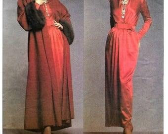 ON SALE Vogue 1046 Paris Original Givenchy Elegant Evening Dress & Coat Pattern, Size 8