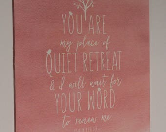 Quiet Retreat wall sign 12 x 12