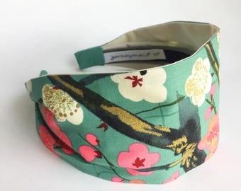 Womens Headbands Gift for her elegant ladies wide Headband Japanese  Hairband turban Adult headband woman fancy Head band flower sakura