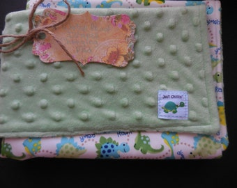 Dino Baby Diaper Changing Pad Waterproof With Miinky Fabric