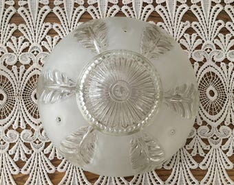Vintage Glass Dome Ceiling Shade, Frosted Glass Ceiling Light Shade