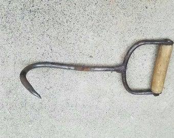 Vintage/Antique Hay hook with wooden handle