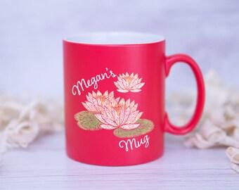CUSTOM WATER LILY Named Mug